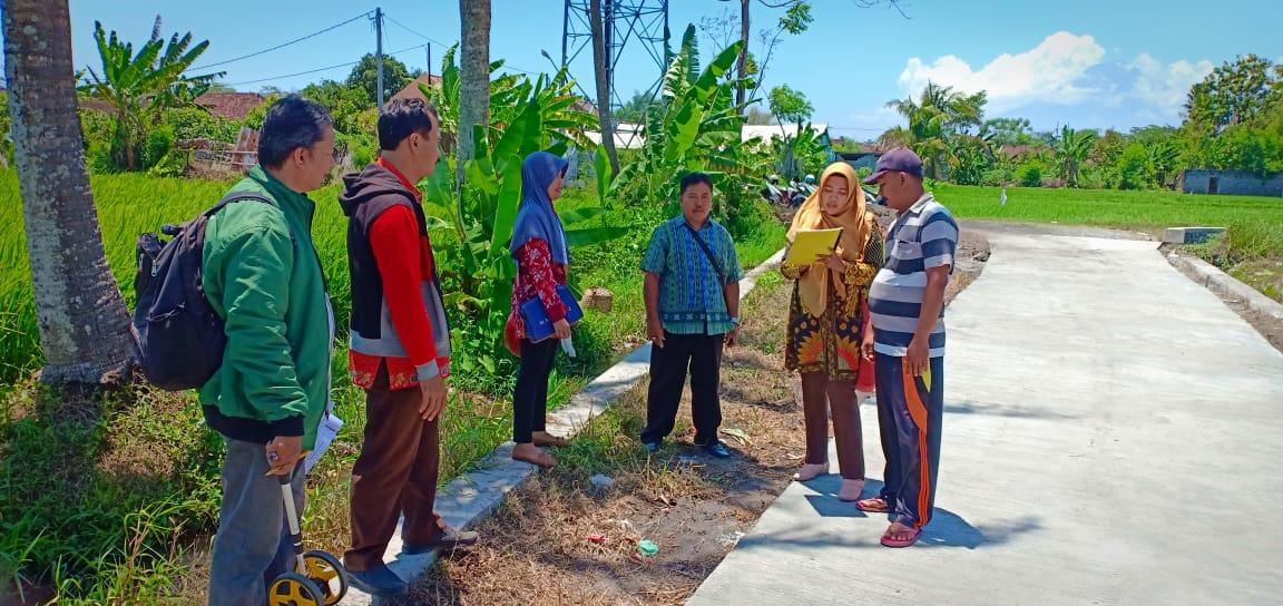 Verifikasi Lapangan Jalan Desa di Desa Grati dan Kebonsari